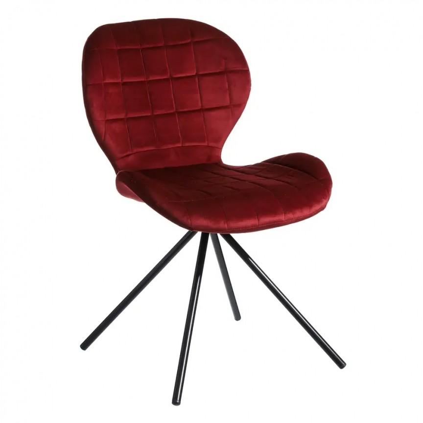 Set de 2 scaune Evilyna, bordo SX-107889, Seturi scaune dining, scaune HoReCa, Corpuri de iluminat, lustre, aplice, veioze, lampadare, plafoniere. Mobilier si decoratiuni, oglinzi, scaune, fotolii. Oferte speciale iluminat interior si exterior. Livram in toata tara.  a