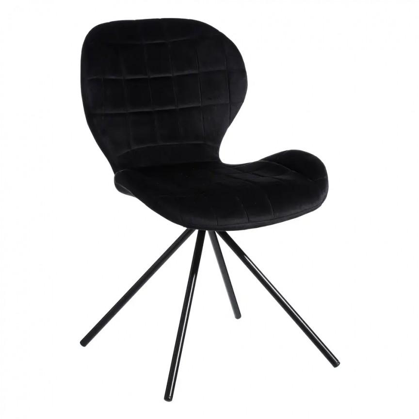 Set de 2 scaune Evilyna, negru SX-107890, Seturi scaune dining, scaune HoReCa, Corpuri de iluminat, lustre, aplice, veioze, lampadare, plafoniere. Mobilier si decoratiuni, oglinzi, scaune, fotolii. Oferte speciale iluminat interior si exterior. Livram in toata tara.  a