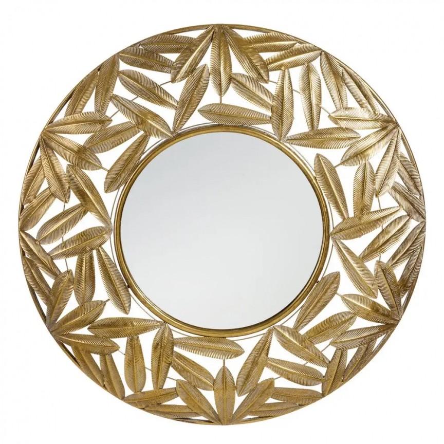 Oglinda decorativa Frunze, 80,5cm SX-108362, Oglinzi decorative, Corpuri de iluminat, lustre, aplice, veioze, lampadare, plafoniere. Mobilier si decoratiuni, oglinzi, scaune, fotolii. Oferte speciale iluminat interior si exterior. Livram in toata tara.  a