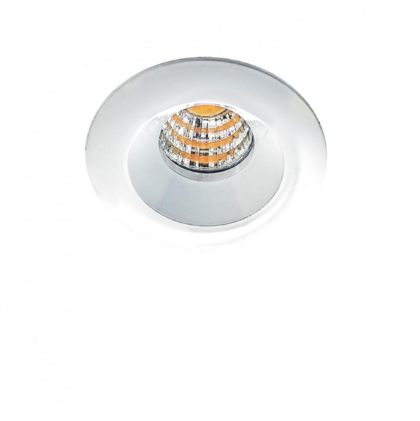 Spot LED incastrat tavan/plafon OKA 3000K alb, Spoturi LED incastrate, aplicate, Corpuri de iluminat, lustre, aplice, veioze, lampadare, plafoniere. Mobilier si decoratiuni, oglinzi, scaune, fotolii. Oferte speciale iluminat interior si exterior. Livram in toata tara.  a
