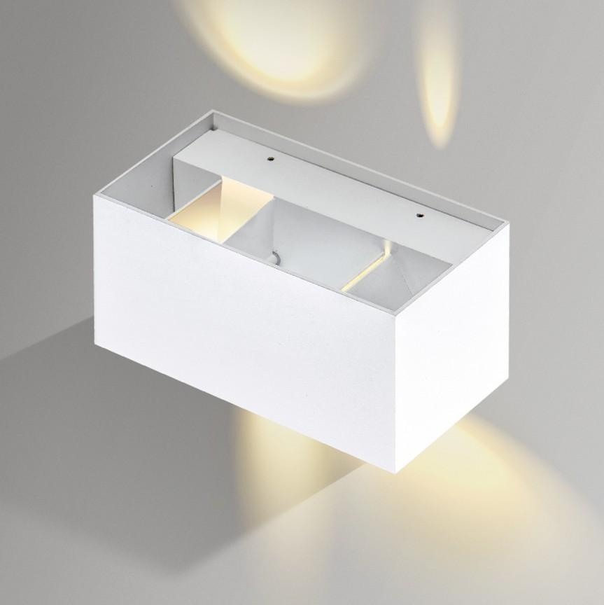 Aplica de perete LED ambientala GAMBINO 2 alba, Aplice de perete LED, Corpuri de iluminat, lustre, aplice, veioze, lampadare, plafoniere. Mobilier si decoratiuni, oglinzi, scaune, fotolii. Oferte speciale iluminat interior si exterior. Livram in toata tara.  a