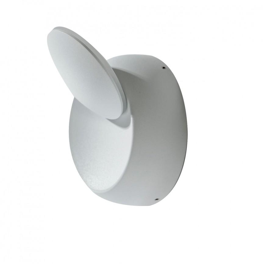 Aplica LED ambientala, directionabila AVON alba, Aplice de perete LED, Corpuri de iluminat, lustre, aplice, veioze, lampadare, plafoniere. Mobilier si decoratiuni, oglinzi, scaune, fotolii. Oferte speciale iluminat interior si exterior. Livram in toata tara.  a