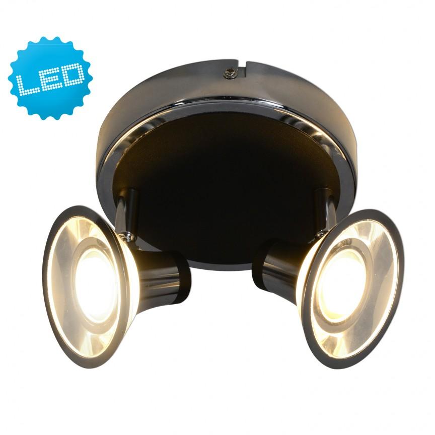 Plafoniera cu 2 spoturi LED Neapel 1239842 NV, Spoturi - iluminat - cu 2 spoturi, Corpuri de iluminat, lustre, aplice, veioze, lampadare, plafoniere. Mobilier si decoratiuni, oglinzi, scaune, fotolii. Oferte speciale iluminat interior si exterior. Livram in toata tara.  a
