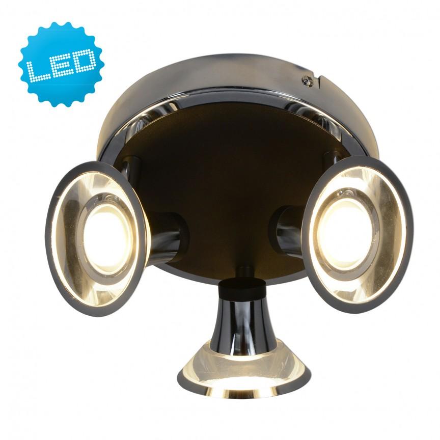 Plafoniera cu 3 spoturi LED Neapel 1239942 NV, Spoturi - iluminat - cu 3 spoturi, Corpuri de iluminat, lustre, aplice, veioze, lampadare, plafoniere. Mobilier si decoratiuni, oglinzi, scaune, fotolii. Oferte speciale iluminat interior si exterior. Livram in toata tara.  a