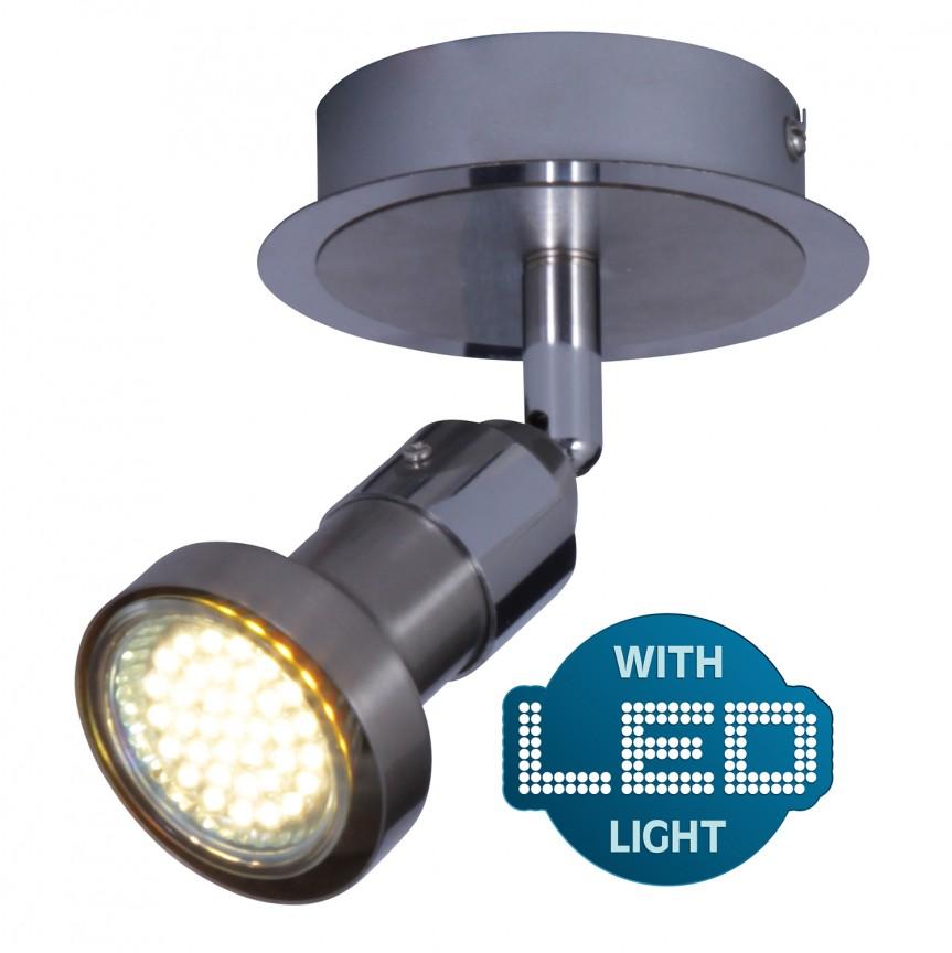 Aplica cu spot GU10 LED Motril 1132442 NV, Spoturi - iluminat - cu 1 spot, Corpuri de iluminat, lustre, aplice, veioze, lampadare, plafoniere. Mobilier si decoratiuni, oglinzi, scaune, fotolii. Oferte speciale iluminat interior si exterior. Livram in toata tara.  a