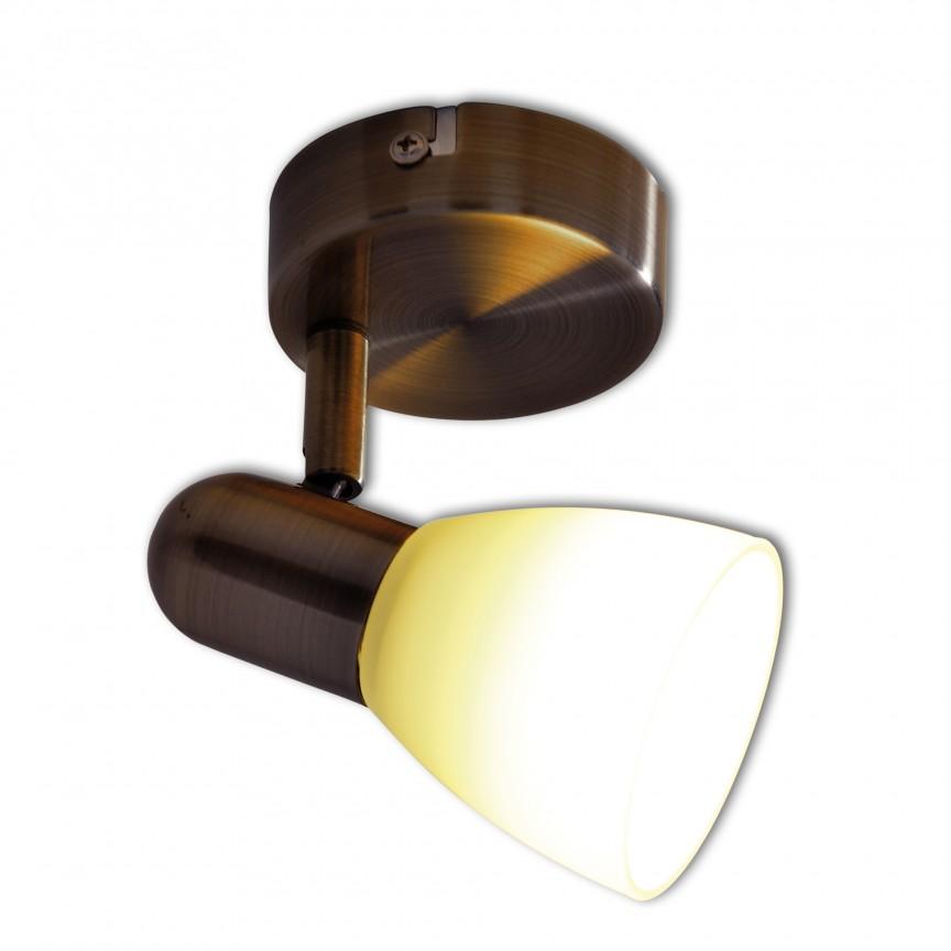 Aplica perete sau tavan cu spot E14 LED Mestre 1198014 NV, Spoturi - iluminat - cu 1 spot, Corpuri de iluminat, lustre, aplice, veioze, lampadare, plafoniere. Mobilier si decoratiuni, oglinzi, scaune, fotolii. Oferte speciale iluminat interior si exterior. Livram in toata tara.  a