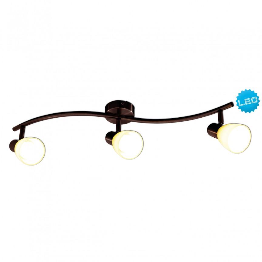 Plafoniera cu 3 spoturi E14 LED Mestre 1198214 NV, Spoturi - iluminat - cu 3 spoturi, Corpuri de iluminat, lustre, aplice, veioze, lampadare, plafoniere. Mobilier si decoratiuni, oglinzi, scaune, fotolii. Oferte speciale iluminat interior si exterior. Livram in toata tara.  a