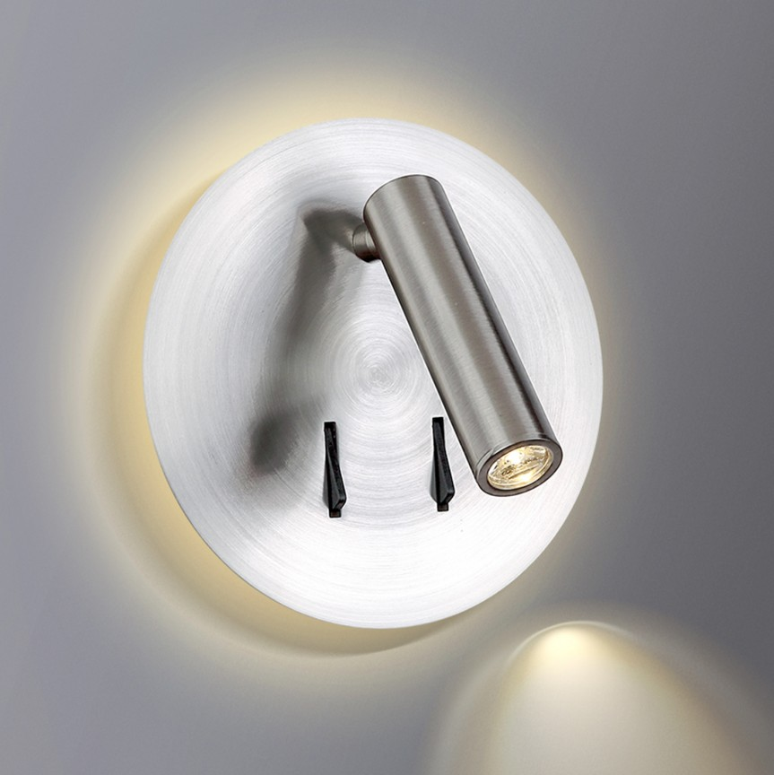 Aplica LED ambientala cu spot directionabil FARO nickel satin, Corpuri de iluminat LED pentru interior⭐ moderne: Lustre LED, Aplice LED, Plafoniere LED, Candelabre LED, Spoturi LED, Veioze LED, Lampadare LED.✅DeSiGn decorativ 2021!❤️Promotii lampi LED❗ Magazin online ➽ www.evalight.ro. Alege oferte la corpuri de iluminat cu LED, ieftine de calitate deosebita la cel mai bun pret. a
