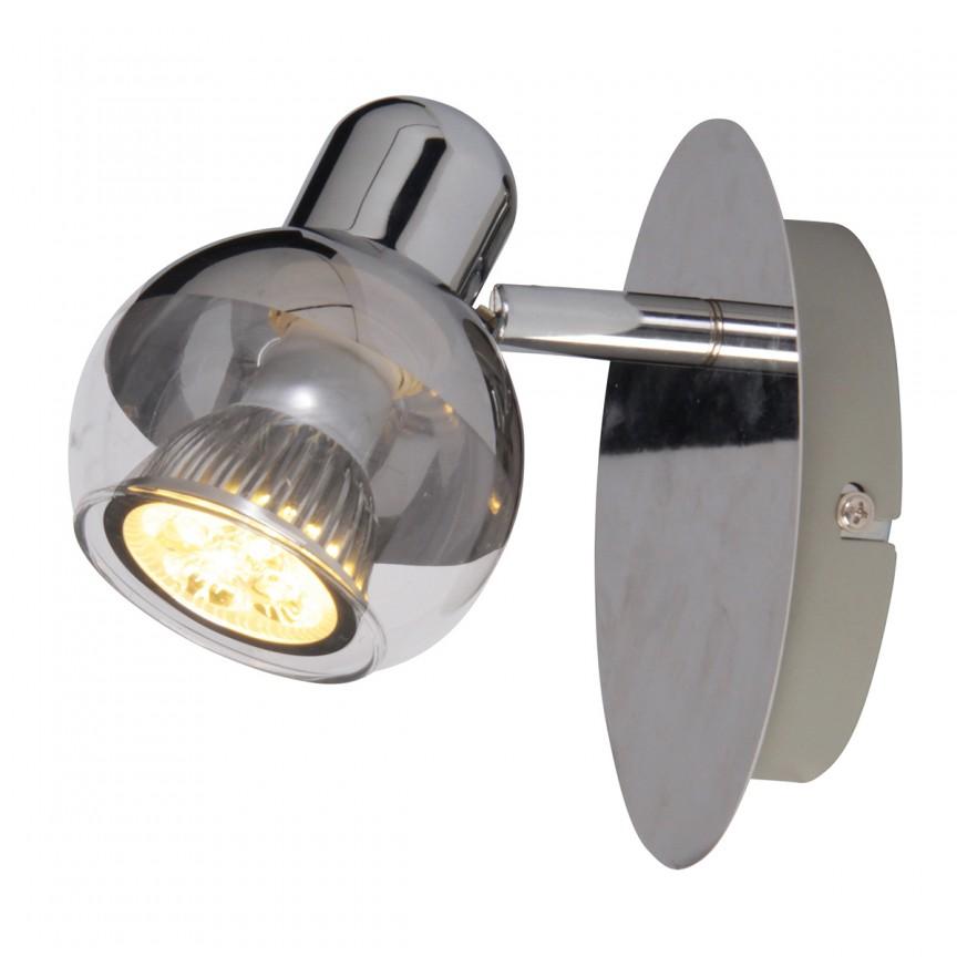 Aplica moderna cu spot Boccia 1117442 NV, Spoturi - iluminat - cu 1 spot, Corpuri de iluminat, lustre, aplice, veioze, lampadare, plafoniere. Mobilier si decoratiuni, oglinzi, scaune, fotolii. Oferte speciale iluminat interior si exterior. Livram in toata tara.  a