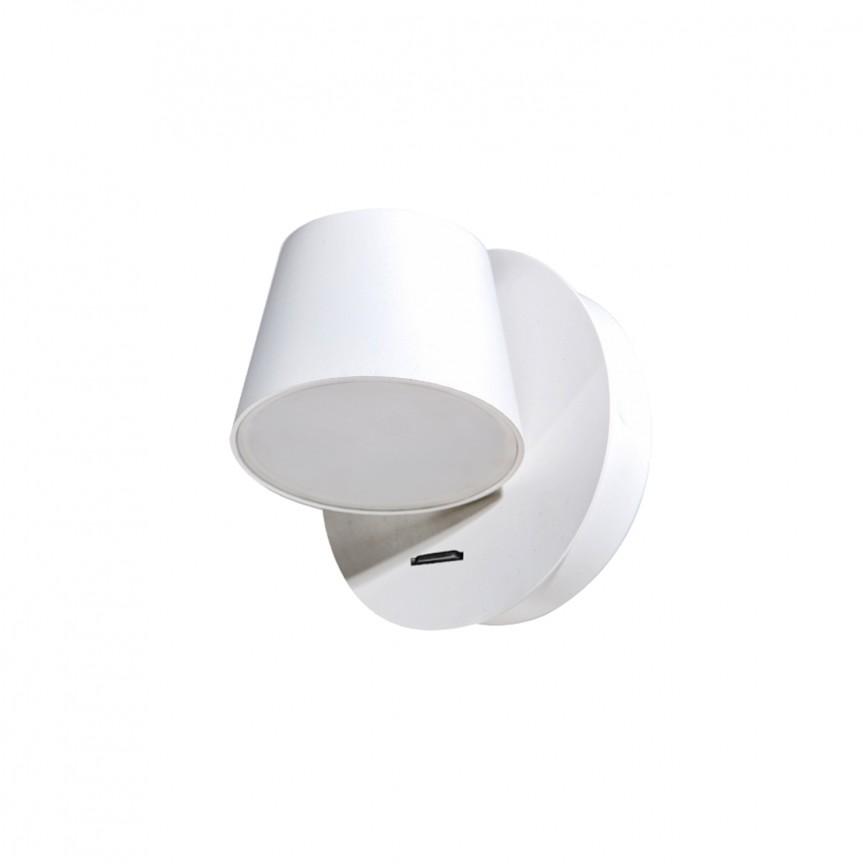 Aplica perete LED design modern RAMONA 1 alba, Aplice de perete LED, Corpuri de iluminat, lustre, aplice, veioze, lampadare, plafoniere. Mobilier si decoratiuni, oglinzi, scaune, fotolii. Oferte speciale iluminat interior si exterior. Livram in toata tara.  a