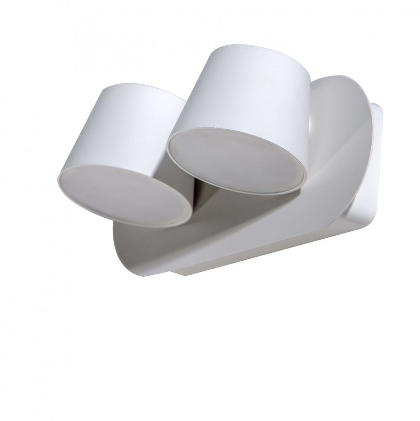 Aplica perete LED design modern RAMONA 2 alba, Aplice de perete moderne, Corpuri de iluminat, lustre, aplice, veioze, lampadare, plafoniere. Mobilier si decoratiuni, oglinzi, scaune, fotolii. Oferte speciale iluminat interior si exterior. Livram in toata tara.  a