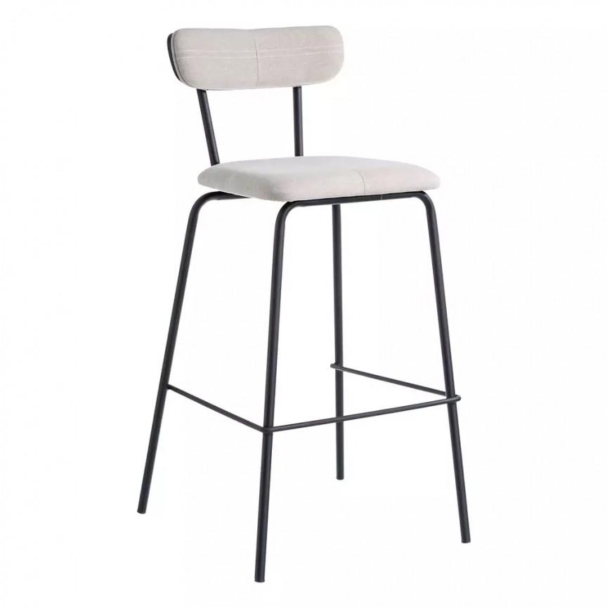 Set de 2 scaune bar Nerro, tesatura bej SX-105370, Scaune de bar, Corpuri de iluminat, lustre, aplice, veioze, lampadare, plafoniere. Mobilier si decoratiuni, oglinzi, scaune, fotolii. Oferte speciale iluminat interior si exterior. Livram in toata tara.  a