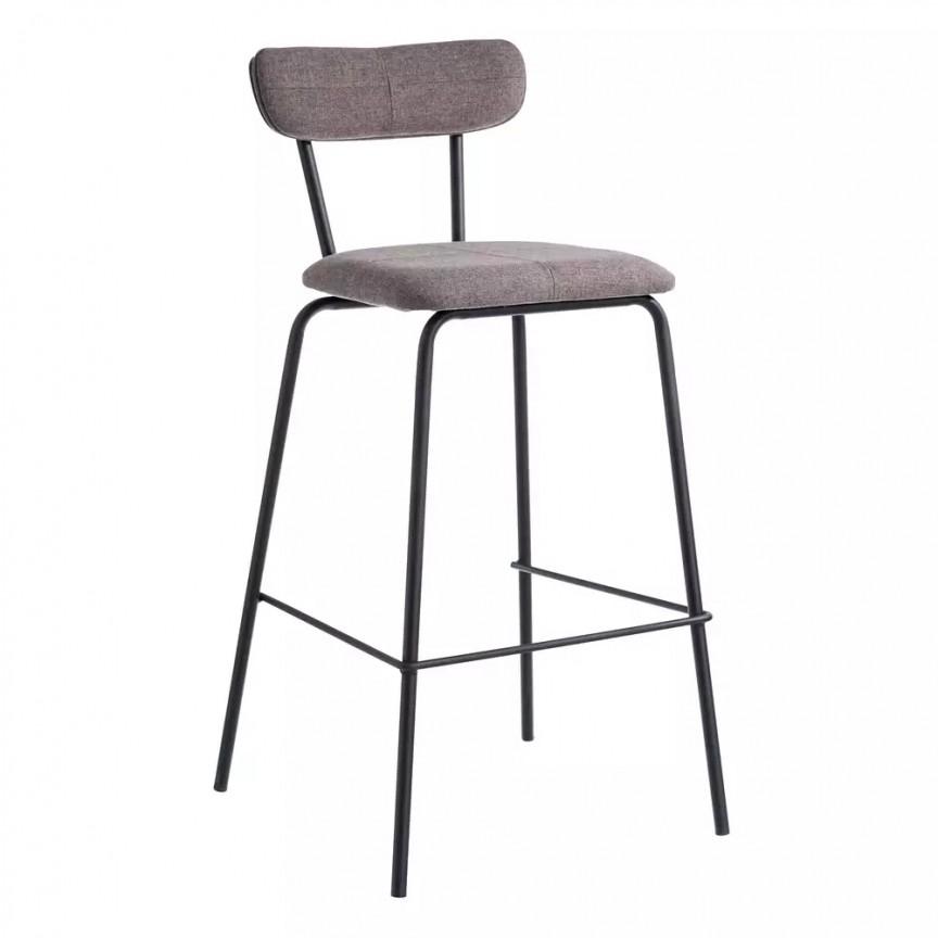 Set de 2 scaune bar Nerro, tesatura maro SX-105371, Scaune de bar, Corpuri de iluminat, lustre, aplice, veioze, lampadare, plafoniere. Mobilier si decoratiuni, oglinzi, scaune, fotolii. Oferte speciale iluminat interior si exterior. Livram in toata tara.  a