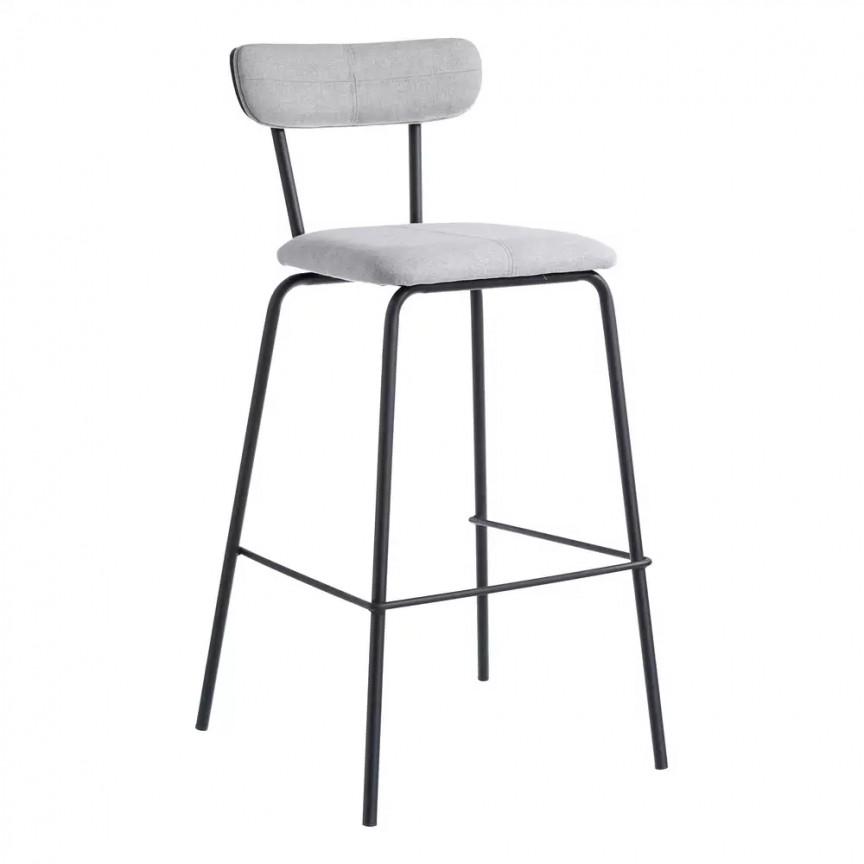 Set de 2 scaune bar Nerro, tesatura gri SX-105372, Scaune de bar, Corpuri de iluminat, lustre, aplice, veioze, lampadare, plafoniere. Mobilier si decoratiuni, oglinzi, scaune, fotolii. Oferte speciale iluminat interior si exterior. Livram in toata tara.  a