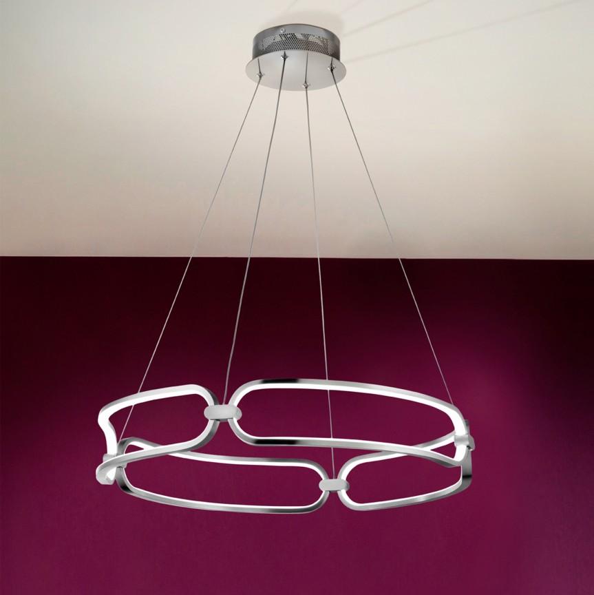 Lustra LED suspendata design ultra-modern Ø60cm Colette. crom SV-786831, Cele mai vandute Corpuri de iluminat, lustre, aplice, veioze, lampadare, plafoniere. Mobilier si decoratiuni, oglinzi, scaune, fotolii. Oferte speciale iluminat interior si exterior. Livram in toata tara.  a