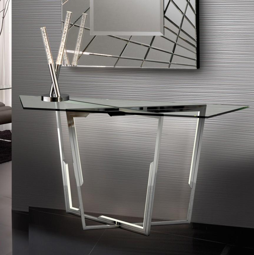 Consola design ultra-modern cu iluminat LED Zaila SV-698426, Console - Birouri, Corpuri de iluminat, lustre, aplice, veioze, lampadare, plafoniere. Mobilier si decoratiuni, oglinzi, scaune, fotolii. Oferte speciale iluminat interior si exterior. Livram in toata tara.  a