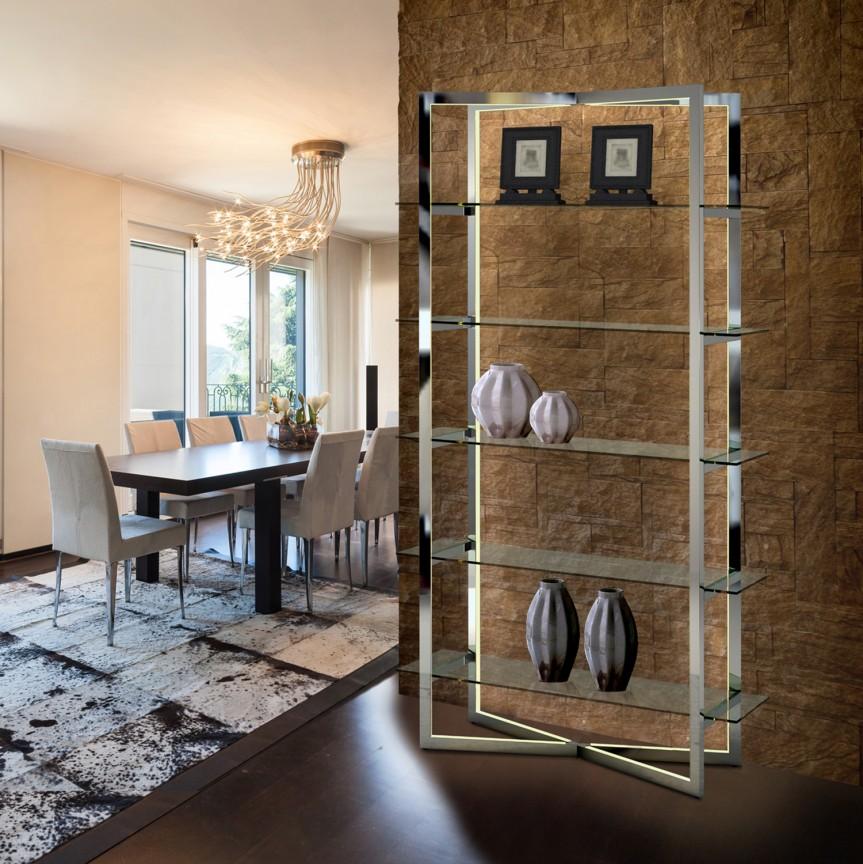 Raft decorativ design ultra-modern cu iluminat LED Zaila SV-792750, Vitrine - Rafturi, Corpuri de iluminat, lustre, aplice, veioze, lampadare, plafoniere. Mobilier si decoratiuni, oglinzi, scaune, fotolii. Oferte speciale iluminat interior si exterior. Livram in toata tara.  a