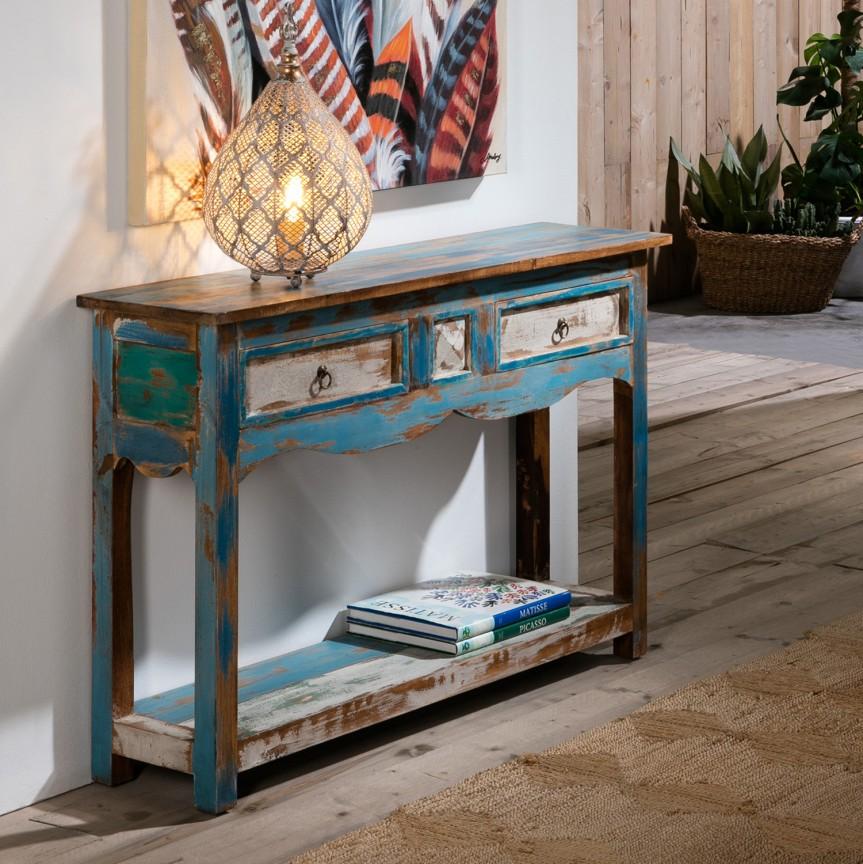 Consola decorativa design vintage Bali SV-374925, Console - Birouri, Corpuri de iluminat, lustre, aplice, veioze, lampadare, plafoniere. Mobilier si decoratiuni, oglinzi, scaune, fotolii. Oferte speciale iluminat interior si exterior. Livram in toata tara.  a
