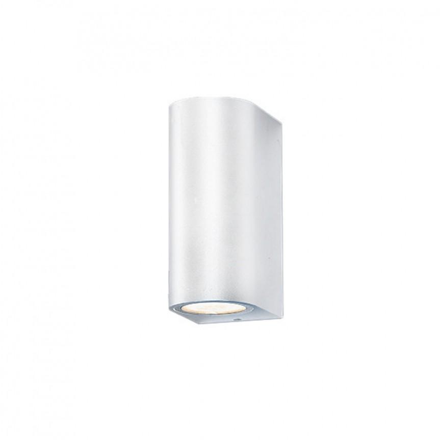 Aplica de perete exterior ambientala IP54 RIMINI 2 alba, Aplice de exterior moderne , Corpuri de iluminat, lustre, aplice, veioze, lampadare, plafoniere. Mobilier si decoratiuni, oglinzi, scaune, fotolii. Oferte speciale iluminat interior si exterior. Livram in toata tara.  a