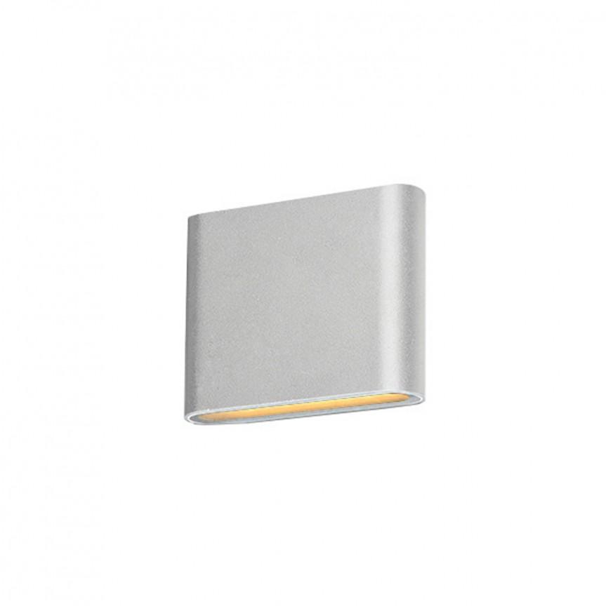 Aplica LED de perete exterior ambientala IP54 CREMONA S alba, Aplice de exterior moderne , Corpuri de iluminat, lustre, aplice, veioze, lampadare, plafoniere. Mobilier si decoratiuni, oglinzi, scaune, fotolii. Oferte speciale iluminat interior si exterior. Livram in toata tara.  a