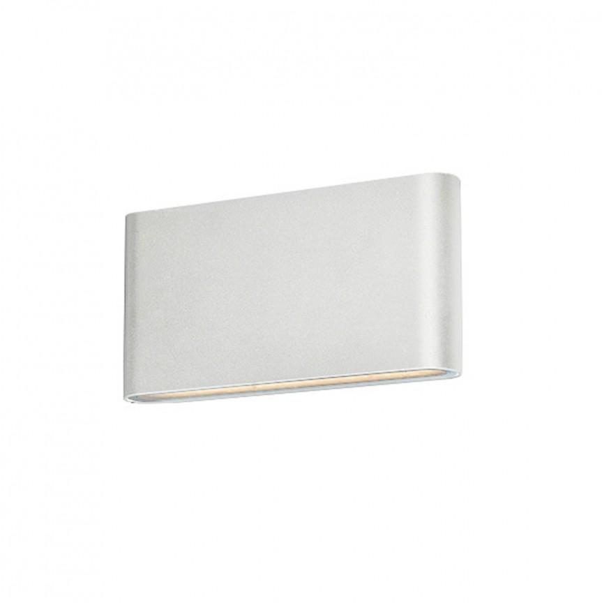 Aplica LED de perete exterior ambientala IP54 CREMONA M alba, Aplice de exterior moderne , Corpuri de iluminat, lustre, aplice, veioze, lampadare, plafoniere. Mobilier si decoratiuni, oglinzi, scaune, fotolii. Oferte speciale iluminat interior si exterior. Livram in toata tara.  a