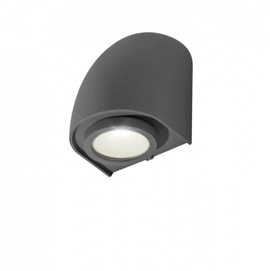 Aplica de perete exterior IP65 FONS gri inchis, Aplice de exterior moderne , Corpuri de iluminat, lustre, aplice, veioze, lampadare, plafoniere. Mobilier si decoratiuni, oglinzi, scaune, fotolii. Oferte speciale iluminat interior si exterior. Livram in toata tara.  a