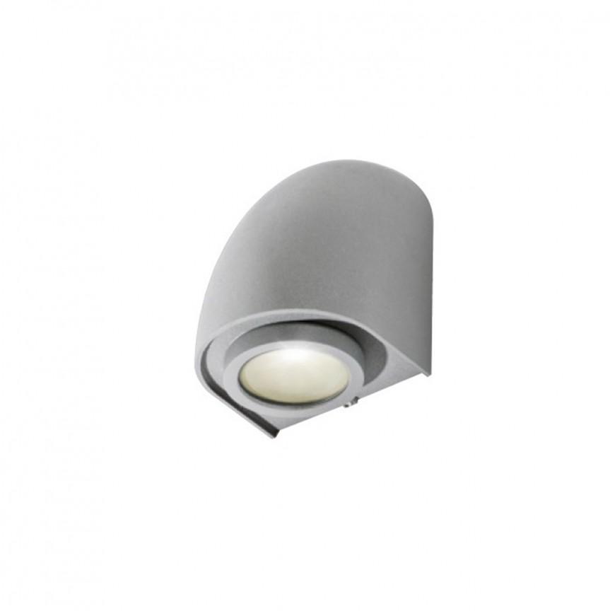 Aplica de perete exterior IP65 FONS gri deschis, Aplice de exterior moderne , Corpuri de iluminat, lustre, aplice, veioze, lampadare, plafoniere. Mobilier si decoratiuni, oglinzi, scaune, fotolii. Oferte speciale iluminat interior si exterior. Livram in toata tara.  a