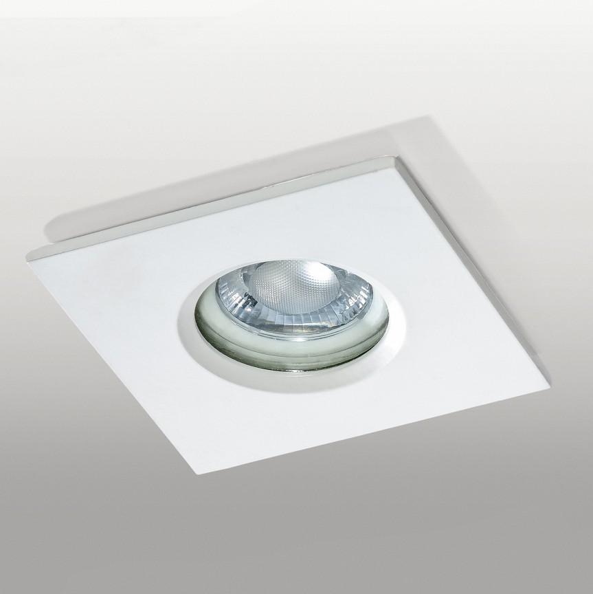 Spot de exterior incastrabil IP65 IKA SQUARE alb, Iluminat exterior incastrabil , Corpuri de iluminat, lustre, aplice, veioze, lampadare, plafoniere. Mobilier si decoratiuni, oglinzi, scaune, fotolii. Oferte speciale iluminat interior si exterior. Livram in toata tara.  a