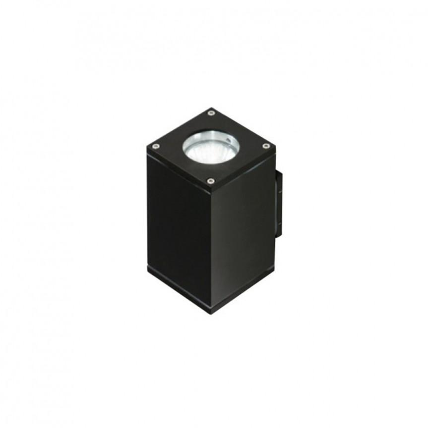 Aplica de perete exterior cu iluminat up-and-down IP54 LIVIO 2 neagra, ILUMINAT EXTERIOR, Corpuri de iluminat, lustre, aplice, veioze, lampadare, plafoniere. Mobilier si decoratiuni, oglinzi, scaune, fotolii. Oferte speciale iluminat interior si exterior. Livram in toata tara.  a