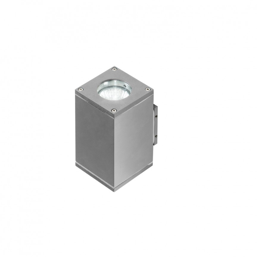 Aplica de perete exterior cu iluminat up-and-down IP54 LIVIO 2 gri deschis, ILUMINAT EXTERIOR, Corpuri de iluminat, lustre, aplice, veioze, lampadare, plafoniere. Mobilier si decoratiuni, oglinzi, scaune, fotolii. Oferte speciale iluminat interior si exterior. Livram in toata tara.  a