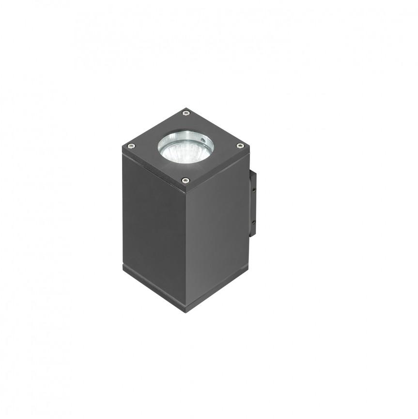 Aplica de perete exterior cu iluminat up-and-down IP54 LIVIO 2 gri inchis, ILUMINAT EXTERIOR, Corpuri de iluminat, lustre, aplice, veioze, lampadare, plafoniere. Mobilier si decoratiuni, oglinzi, scaune, fotolii. Oferte speciale iluminat interior si exterior. Livram in toata tara.  a