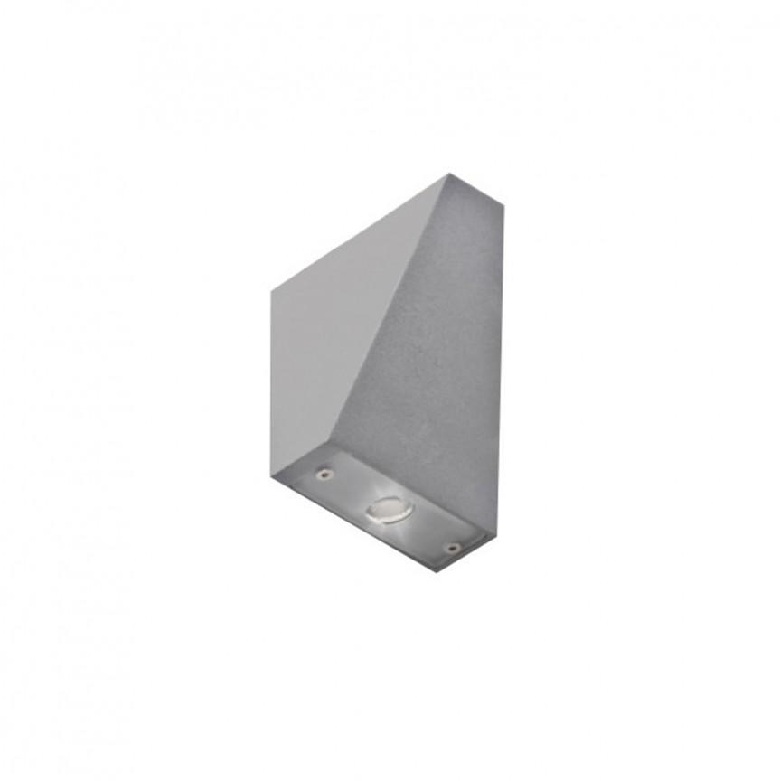Aplica LED de perete exterior cu iluminat ambiental IP54 ZITA XL gri deschis, Aplice de exterior moderne , Corpuri de iluminat, lustre, aplice, veioze, lampadare, plafoniere. Mobilier si decoratiuni, oglinzi, scaune, fotolii. Oferte speciale iluminat interior si exterior. Livram in toata tara.  a