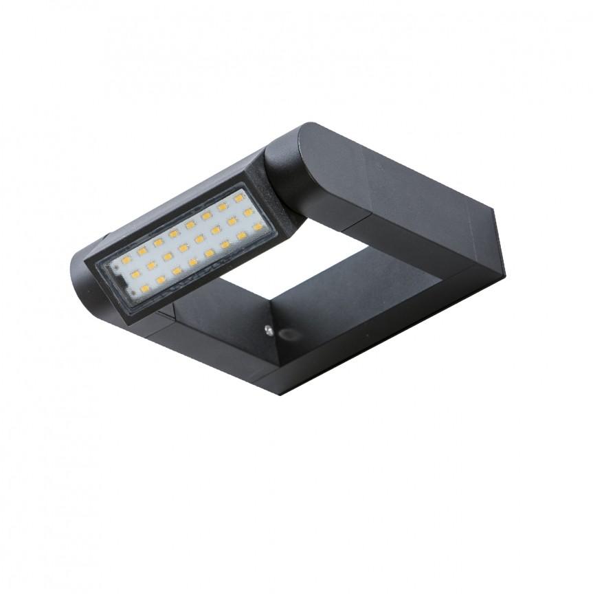Aplica LED exterior moderna cu spot directionabil IP54 FRAME gri inchis, Aplice de exterior moderne , Corpuri de iluminat, lustre, aplice, veioze, lampadare, plafoniere. Mobilier si decoratiuni, oglinzi, scaune, fotolii. Oferte speciale iluminat interior si exterior. Livram in toata tara.  a