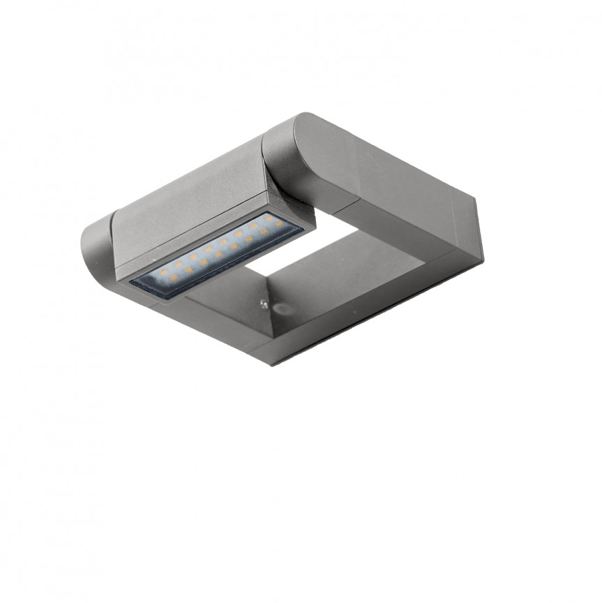 Aplica LED exterior moderna cu spot directionabil IP54 FRAME gri deschis, ILUMINAT EXTERIOR, Corpuri de iluminat, lustre, aplice, veioze, lampadare, plafoniere. Mobilier si decoratiuni, oglinzi, scaune, fotolii. Oferte speciale iluminat interior si exterior. Livram in toata tara.  a