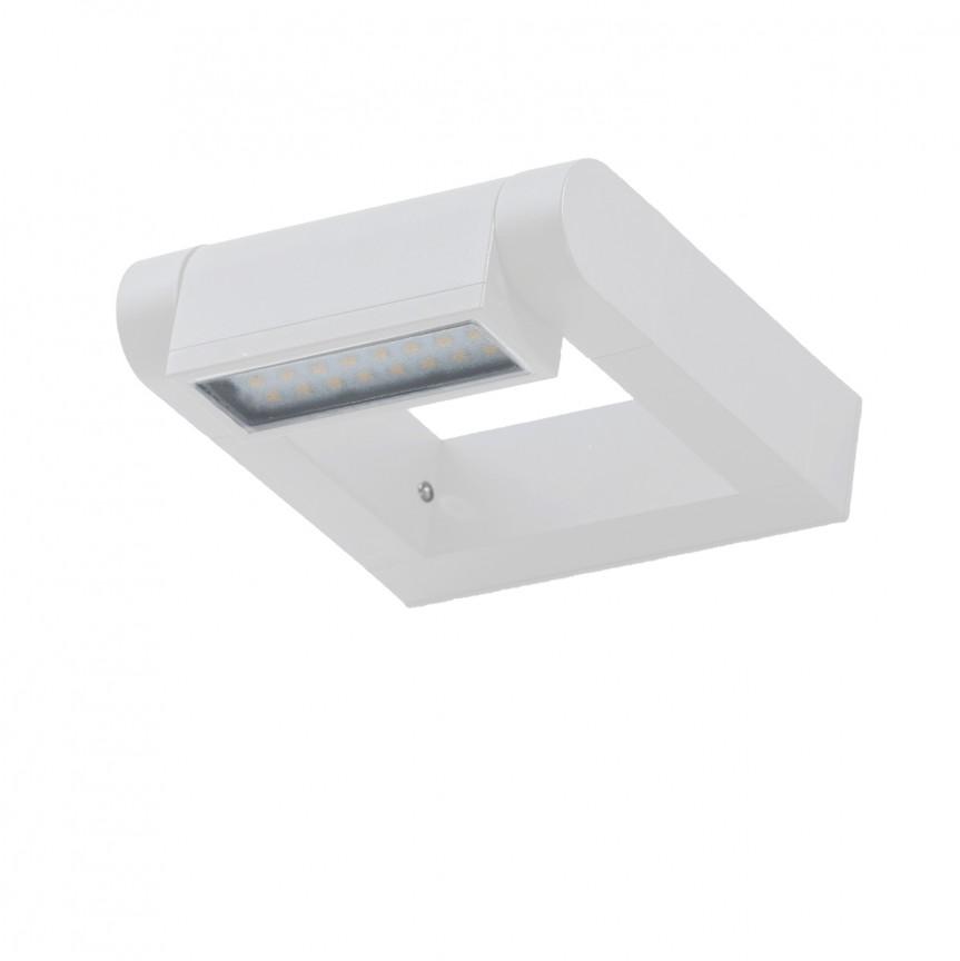 Aplica LED exterior moderna cu spot directionabil IP54 FRAME alba, Aplice de exterior moderne , Corpuri de iluminat, lustre, aplice, veioze, lampadare, plafoniere. Mobilier si decoratiuni, oglinzi, scaune, fotolii. Oferte speciale iluminat interior si exterior. Livram in toata tara.  a