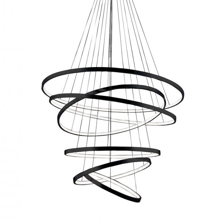Lustra LED dimabila design modern casa scarii Wheel 6 Long neagra, Lustre casa scarii, Corpuri de iluminat, lustre, aplice, veioze, lampadare, plafoniere. Mobilier si decoratiuni, oglinzi, scaune, fotolii. Oferte speciale iluminat interior si exterior. Livram in toata tara.  a