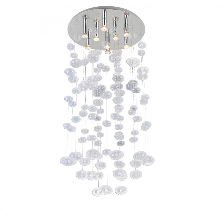 Lustra XL moderna design deosebit Ø60cm Luvia clar, Candelabre, Lustre moderne, Corpuri de iluminat, lustre, aplice, veioze, lampadare, plafoniere. Mobilier si decoratiuni, oglinzi, scaune, fotolii. Oferte speciale iluminat interior si exterior. Livram in toata tara.  a