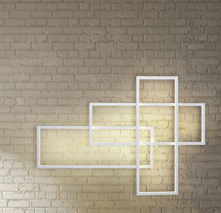 Aplica de perete LED dimabila design modern Quadratus white, Aplice de perete moderne, Corpuri de iluminat, lustre, aplice, veioze, lampadare, plafoniere. Mobilier si decoratiuni, oglinzi, scaune, fotolii. Oferte speciale iluminat interior si exterior. Livram in toata tara.  a