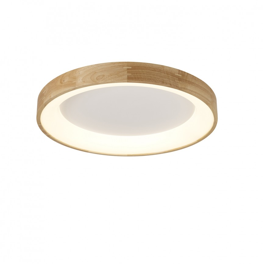 Lustra LED aplicata moderna design lemn natural Ø45cm Silvam, Plafoniere moderne, Corpuri de iluminat, lustre, aplice, veioze, lampadare, plafoniere. Mobilier si decoratiuni, oglinzi, scaune, fotolii. Oferte speciale iluminat interior si exterior. Livram in toata tara.  a