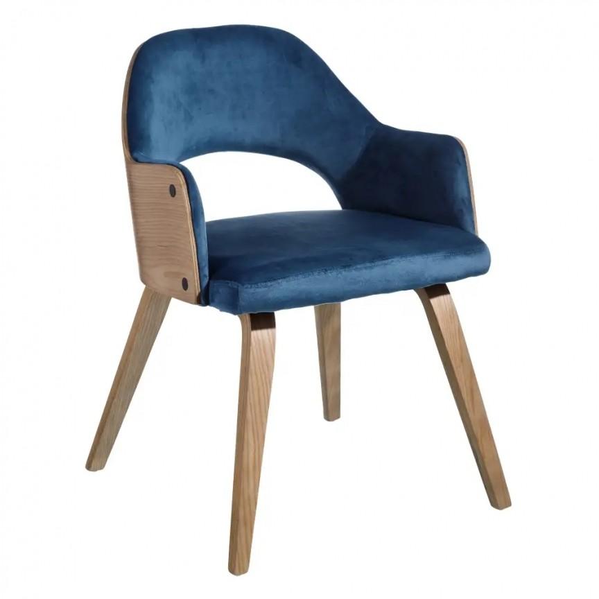 Set de 2 scaune elegante Woody, catifea albastra SX-108684, Seturi scaune dining, scaune HoReCa, Corpuri de iluminat, lustre, aplice, veioze, lampadare, plafoniere. Mobilier si decoratiuni, oglinzi, scaune, fotolii. Oferte speciale iluminat interior si exterior. Livram in toata tara.  a