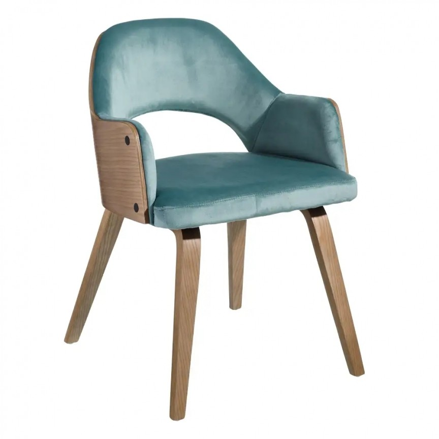 Set de 2 scaune elegante Woody, catifea albastru azur SX-108685, Seturi scaune dining, scaune HoReCa, Corpuri de iluminat, lustre, aplice, veioze, lampadare, plafoniere. Mobilier si decoratiuni, oglinzi, scaune, fotolii. Oferte speciale iluminat interior si exterior. Livram in toata tara.  a