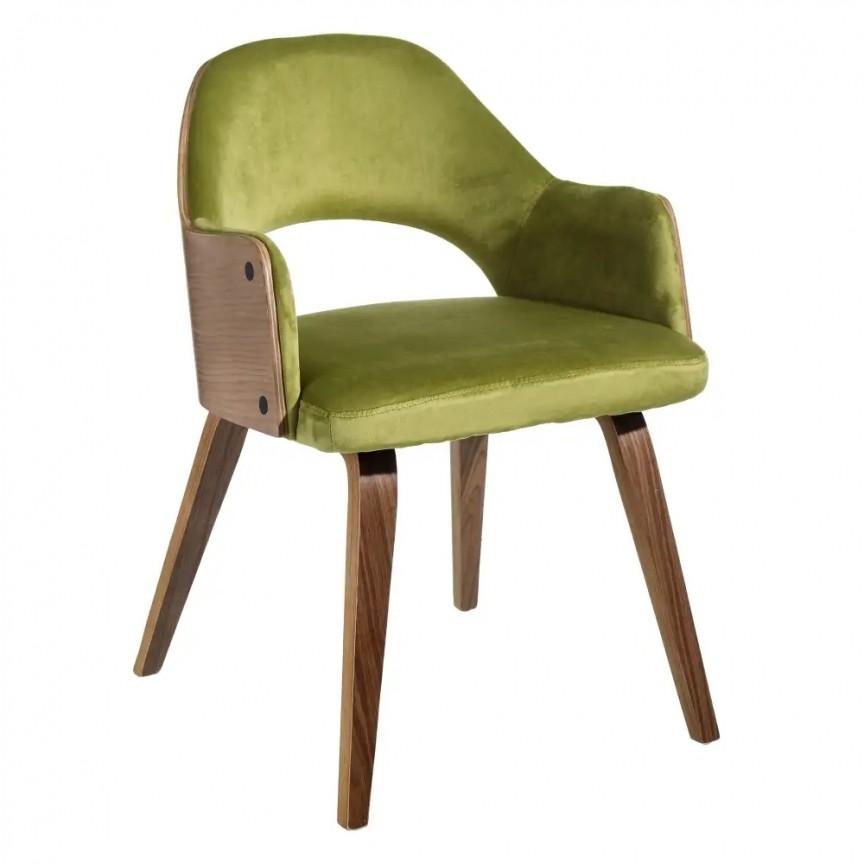 Set de 2 scaune elegante Woody, catifea verde SX-108687, Seturi scaune dining, scaune HoReCa, Corpuri de iluminat, lustre, aplice, veioze, lampadare, plafoniere. Mobilier si decoratiuni, oglinzi, scaune, fotolii. Oferte speciale iluminat interior si exterior. Livram in toata tara.  a