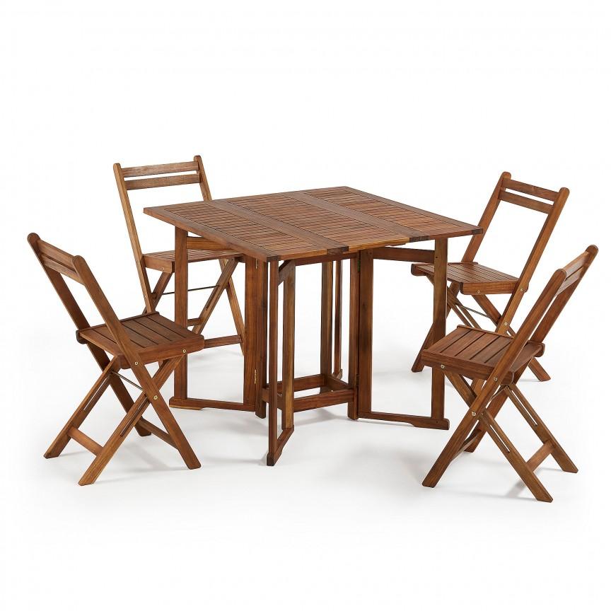 Set pliabil pentru interior si exterior, masa si 4 scaune GUSTAVE CC1116M46 JG, Mese dining, Corpuri de iluminat, lustre, aplice, veioze, lampadare, plafoniere. Mobilier si decoratiuni, oglinzi, scaune, fotolii. Oferte speciale iluminat interior si exterior. Livram in toata tara.  a