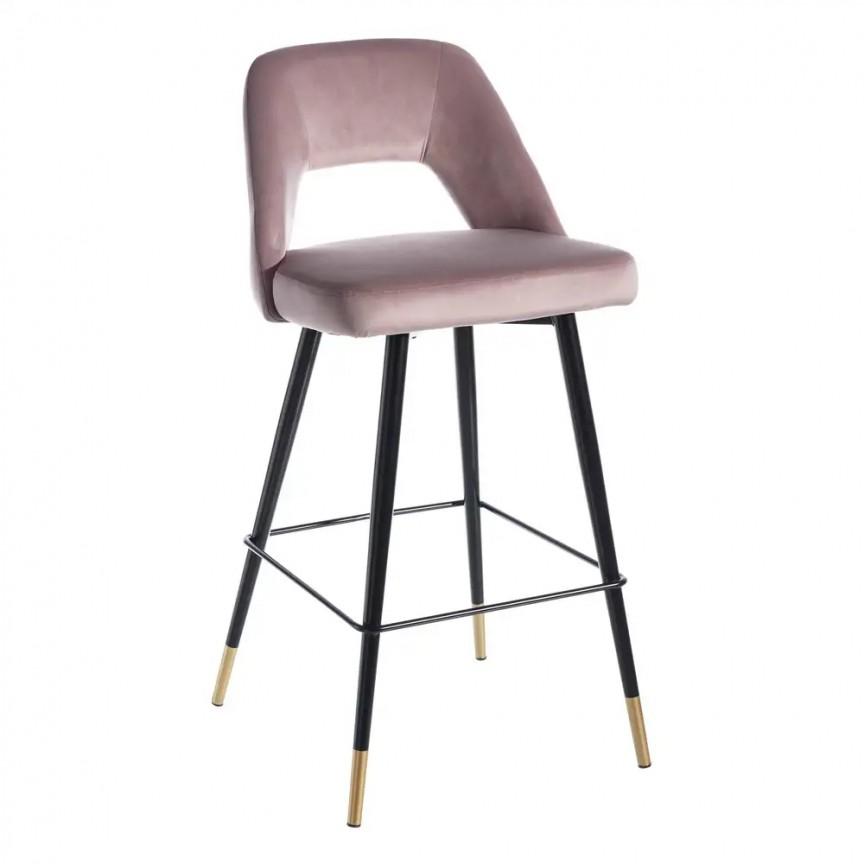 Set de 2 scaune de bar elegante Carola, negru/ roz SX-107950, Scaune de bar, Corpuri de iluminat, lustre, aplice, veioze, lampadare, plafoniere. Mobilier si decoratiuni, oglinzi, scaune, fotolii. Oferte speciale iluminat interior si exterior. Livram in toata tara.  a