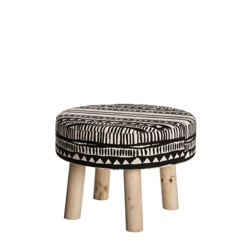 Taburete elegant Pilo, negru-alb, 44cm SX-94876, Tabureti - Banci, Corpuri de iluminat, lustre, aplice, veioze, lampadare, plafoniere. Mobilier si decoratiuni, oglinzi, scaune, fotolii. Oferte speciale iluminat interior si exterior. Livram in toata tara.  a