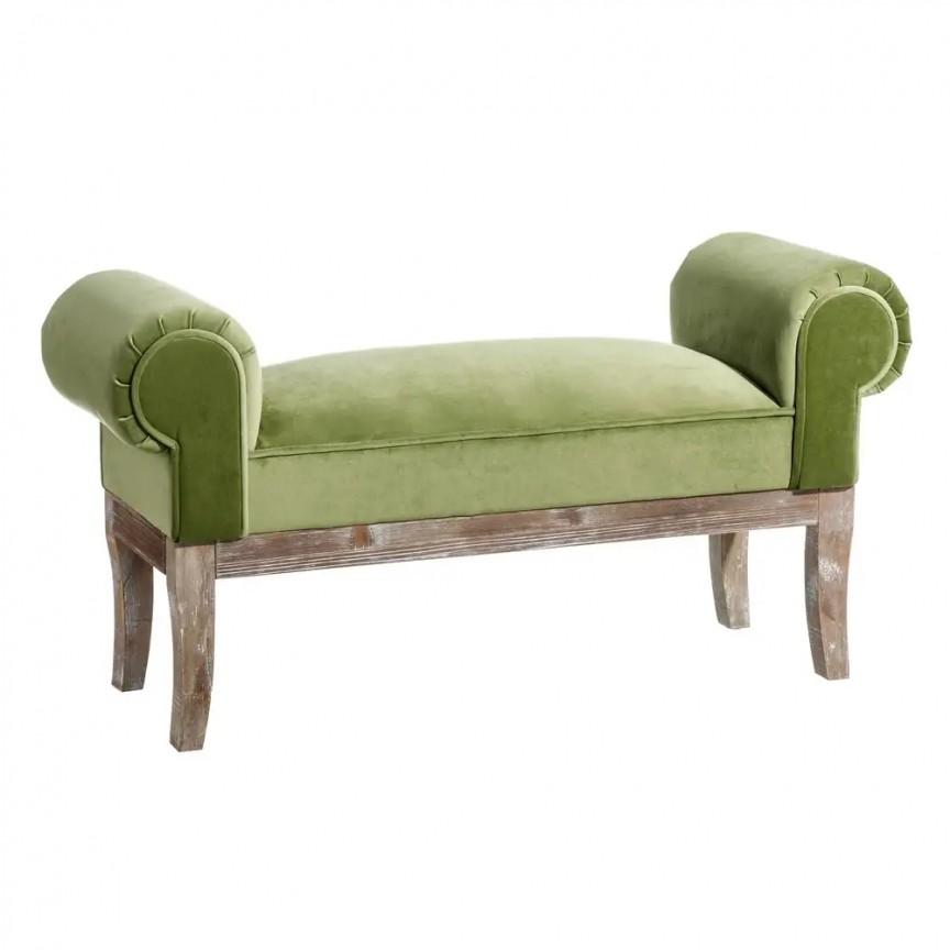 Bancheta design clasic Mone, verde, 104cm SX-121161, Tabureti - Banci, Corpuri de iluminat, lustre, aplice, veioze, lampadare, plafoniere. Mobilier si decoratiuni, oglinzi, scaune, fotolii. Oferte speciale iluminat interior si exterior. Livram in toata tara.  a