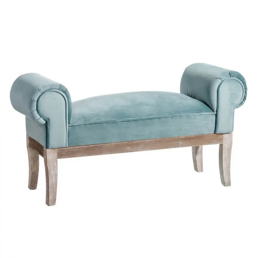Bancheta design clasic Mone, albastru, 104cm SX-121165, Tabureti - Banci, Corpuri de iluminat, lustre, aplice, veioze, lampadare, plafoniere. Mobilier si decoratiuni, oglinzi, scaune, fotolii. Oferte speciale iluminat interior si exterior. Livram in toata tara.  a