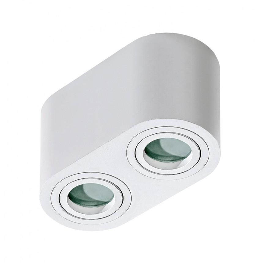 Plafoniera cu spoturi aplicate pentru baie IP44 Brant 2 alba, Spoturi aplicate tavan / perete, mobila, LED⭐modele moderne pentru living,dormitor,bucatarie,baie,hol.✅Design decorativ 2021!❤️Promotii lampi❗ ➽ www.evalight.ro. Alege oferte la colectile NOI de corpuri de iluminat interior de tip spot-uri aparente cu LED, (rotunde si patrate), ieftine de calitate la cel mai bun pret. a