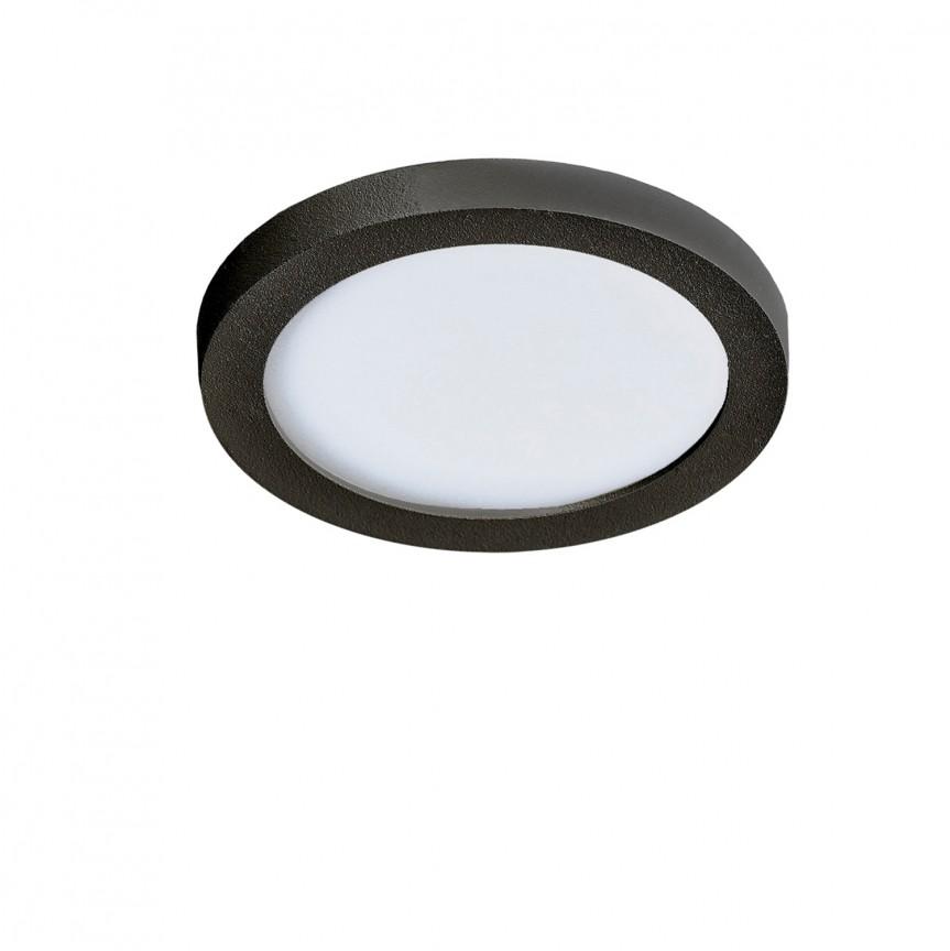 Spot LED pentru baie incastrat IP44 Slim 9 round 4000K negru, Plafoniere cu protectie pentru baie, Corpuri de iluminat, lustre, aplice, veioze, lampadare, plafoniere. Mobilier si decoratiuni, oglinzi, scaune, fotolii. Oferte speciale iluminat interior si exterior. Livram in toata tara.  a