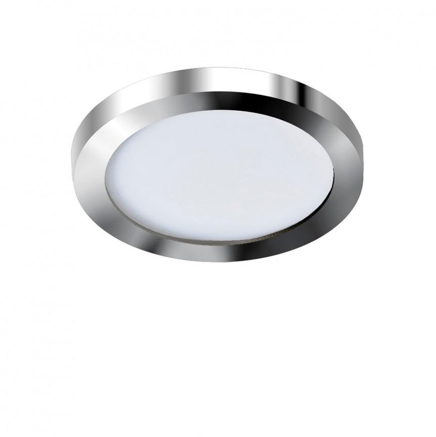 Spot LED pentru baie incastrat IP44 Slim 9 round 4000K crom, Plafoniere cu protectie pentru baie, Corpuri de iluminat, lustre, aplice, veioze, lampadare, plafoniere. Mobilier si decoratiuni, oglinzi, scaune, fotolii. Oferte speciale iluminat interior si exterior. Livram in toata tara.  a